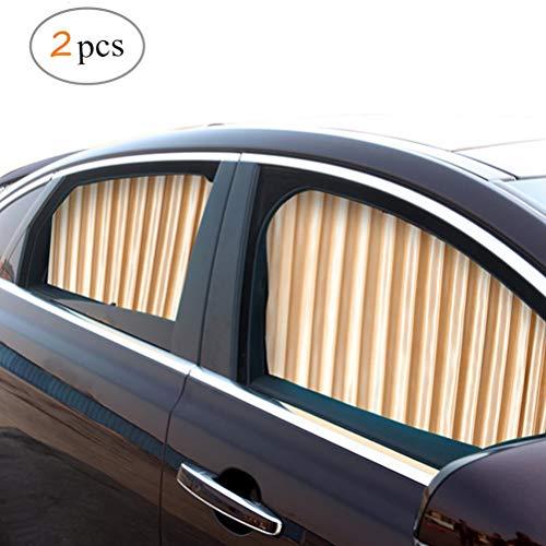 ZATOOTO Sonnenschutz fürs Auto Vorhang, Sonnenschutz Magnetisch für UV-Schutz, Hitzeschutz, Gold