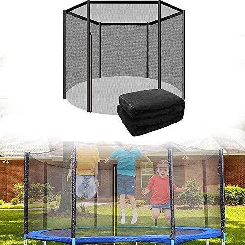 Asolym Red de Seguridad de Repuesto para Cama Elástica, Red de Trampolín para Deportes al Aire Libre para Niños con Cremallera, Ø 305 cm 6 Barras