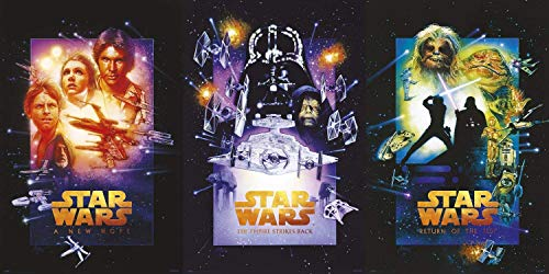 Jigsaw Puzzles 1000 Star Wars Episode IV, V & Vi - Movie Poster Set (Special Edition - Regular Styles)