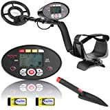 Meterk Metal Detector, Multi-Function lightweight Metal Detector for Adults and Kids, Adjustable Stem, Waterproof Coil, LCD Display, DISC/Pinpoint Mode Included Batteries and Shovel for Hunt Treasure - Best Reviews Guide
