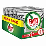 Fairy Platinum All in One, Pastillas Lavavajillas, 125 cápsulas (5 x 25), Mega Pack