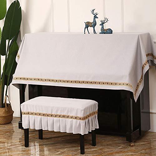 Dhl Piano Polvo Cover Set de Teclado de Piano Moderno Simple Pedestal Cubierta (Color : Beige, Size : Top)
