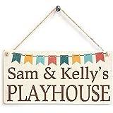 Kelly Personalisiertes Spielhaus Super niedliches Kinderschild aus Holz zum Aufhängen,...