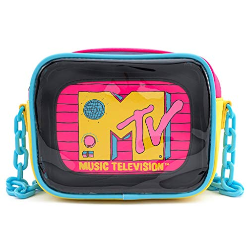MTV Loungefly - MTV Unisex Mochila Bandolera Multicolores, Semi Piel,
