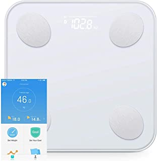 QIXIAOCYB Weighing Scale Smart Body Fat Scale Intelligent Data Analysis App Control Digital Weighing Tool 180Kg