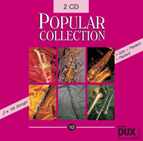 Popular Collection Band 10: 2 CD's met halve en volledige playback -- 16 wereldberoemde populaire melodieën uit pop-up en filmmusiek o.a. met HE'S A PIRATE (uit de vlucht van de Caribisch) en THANK YOU FOR THE MUSIC (Abba) in geluidsvolle middelzware arrangementen
