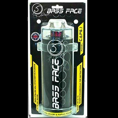 CONDENSATORE CAR AUDIO BASS FACE 6 FARAD X IMPIANTI 6000 RMS 1 2 3 4 5 10 CAPACITOR CAP 6.1 SENZA REMOTE