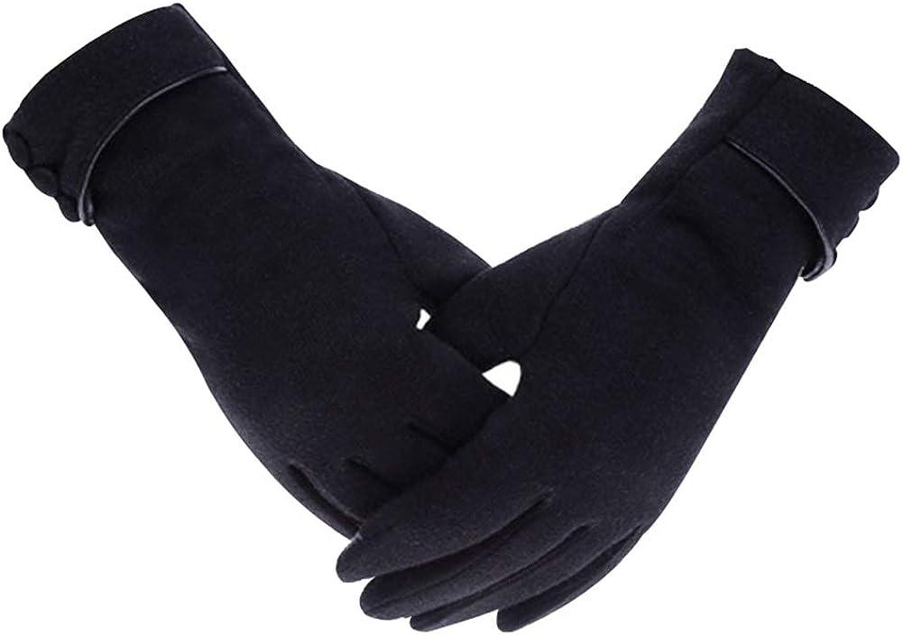 Winter Riding Warm Fleece Gloves Women Outdoor Cycling Non-Falling Gloves Touch Screen Gloves