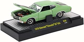 Castline M2 1970 Chevy Chevelle SS 454, Mist Green 32600/38 - 1/64 Scale Diecast Model Toy Car