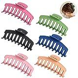 MEEQIAO Clips de Garra Grandes de Pinzas para el Pelo, Antideslizante, para Mujeres con Pelo Grueso (6PCS)