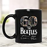 Grazie per i bellissimi ricordi 60 anni da quando i Beatles sono stati formati tazza da caffè - regalo nero per amante degli amici il fan dei Beatles nonno genitore nella festa della mamma festa del p