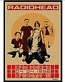 WEIBU Canvas Poster British Band Radiohead Poster Retro