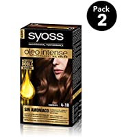 SYOSS - Oleo Intense Coloración Permanente Sin Amoníaco  - Tono 4-18 Chocolate - 2 uds
