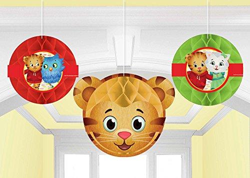 Amscan 291768 Honeycomb Decoration Daniel Tiger's Neighborhood® 3 pcs Party Accessory