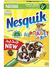 Nestle Nesquik Chocolate Alphabets Breakfast Cereal, 335 gm