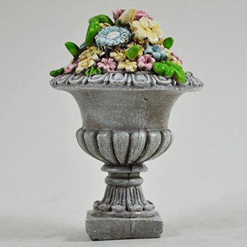 Fée Jardin anglais Mini Pierre Pot de fleurs jardin miniature Décoration de maison – Elfe Pixie Hobbit magique Idée de cadeau – Hauteur : 9 cm