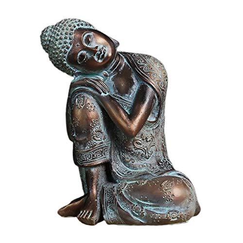 chiwanji Bronze 23cm Sleeping Buddha Statue Seat Resting Napping Housewarming Gift