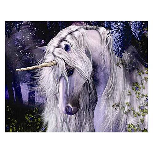Geiqianjiumai Eenhoorn paard dromen dier dromen dier doek huwelijk decoratie kunst afbeelding geschenk frameloos schilderwerk