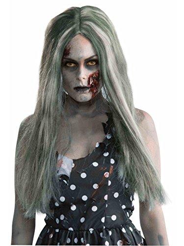 Forum Novelties Women's Standard Creepy Zombie Wig, Gray - Long, One Size