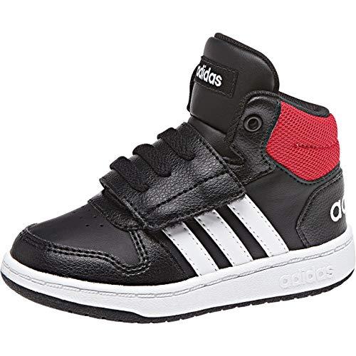 adidas Hoops Mid 2.0, Zapatillas Unisex Niños, Negro (Cblack/Ftwwht/Scarle 000), 19 EU