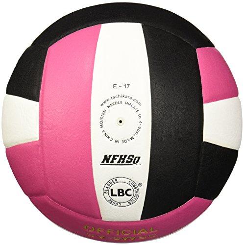 Tachikara SV5WSC.PKWB Sensi-Tec Composite High Performance Volleyball - Pink-White-Black