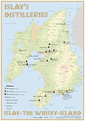 Whisky Distilleries Islay - Poster 42x60cm Standard Edition: Islay - The Whisky-Island