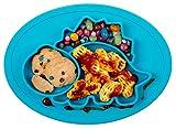 Qshare - Platos de silicona para bebé, una pieza, para bebés y niños, portátil, sin BPA, aprobado por la FDA, fuertes placas de succión para niños pequeños, aptos para lavavajillas y microondas