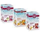 Infusiones frías Pompadour 1913: 1 x frambuesa y limón, 1 x melocotón y maracuyá, 1 x fresa y naranja - 3 x 18 bolsitas de té (135 gramos)