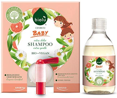 Biolù Shampooing Bio délicat pour enfants 300 ml, flacon avec distributeur