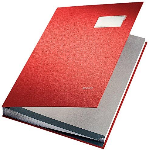 LEITZ Libro firma in PPL 20 scomparti - f.to 24 x 34 cm - Rosso - 57000125