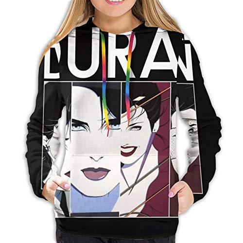 Duran Duran Womens Sweatshirt Fashion Drawstring Hoodie Black