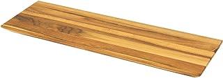 Terra Teak Wood Serving Platter 13 Inch - Small Wooden Serving Tray, Genuine Teak Wood