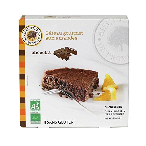 Biscuiterie De Provence, Organic Chocolate Almond Cake (Gluten-Free, Flourless), Ready to Eat, Made in France, 225 Grams (7.94 Ounces)
