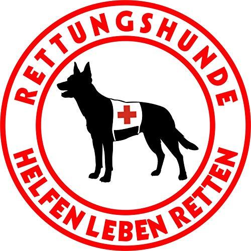 Holashirts Mallorca Australian Kelpie Rettungshund Auto-Folien-Aufkleber Hundeaufkleber Sticker (Ø200mm)