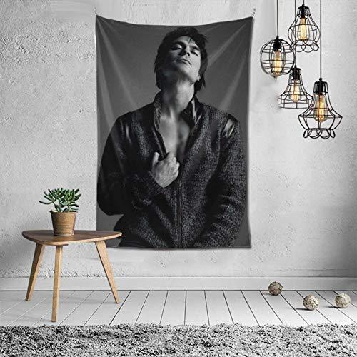 Damon-Salvatore Tapisserie Wandbehang Customized Style Wanddekoration für Schlafzimmer Wohnzimmer 60x40 Zoll