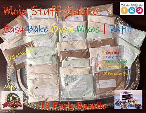 Mojo Stuff Galore Toy Bakery Easy Bake Oven Mixes Refills Super Pack (12 PACKSPopular