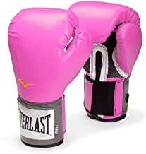 Everlast Pro Style Training 8-12oz Boxing Gloves in Pink for Women (12 oz)
