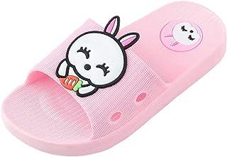 NEEKEY Kids Girls Boys Home Slippers Cartoon Rabbit Floor Non-Slip Beach Lightweight Outdoor Shoes