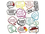 Atrezzo Photocall Frases Graciosas 100x100 cm | Atrezzos Decorativos para Photocalls | Accesorios Divertidos | Complementos para photocall | Set para Bodas, Fiestas, Eventos | Artículos Decorativos