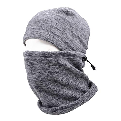 TRIWONDER Balaclava Hood Hat Thermal Fleece Gesichtsmaske Nackenwärmer Winter Ski Maske Full Face Cover Cap (Grau - 17)