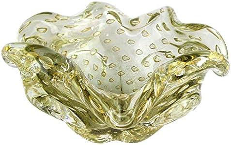 Cenicero de los años 60 – gris veneciano cristal Murano OMG