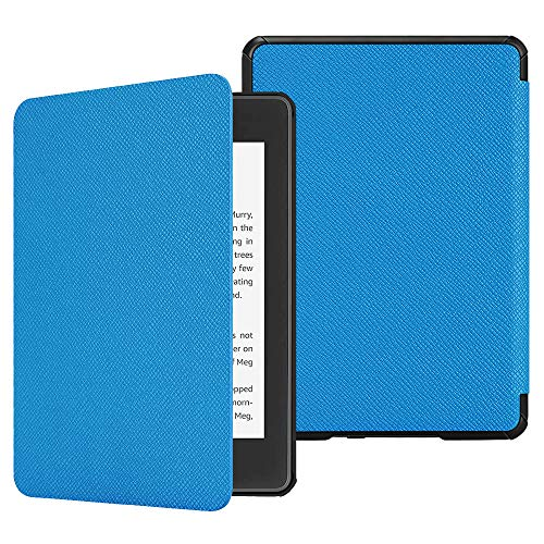 Fintie Hülle für Kindle Paperwhite (10. Generation – 2018) - Die dünnste und leichteste Schutzhülle Tasche mit Auto Sleep/Wake Funktion für Amazon Kindle Paperwhite eReader, Blau