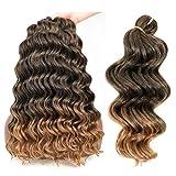 Ocean Wave Crochet Hair 14 Inch Deep Wave Braiding Hair 9packs Loose Crochet Hair Wavy Synthetic Deep Wave Crochet Braids Hair
