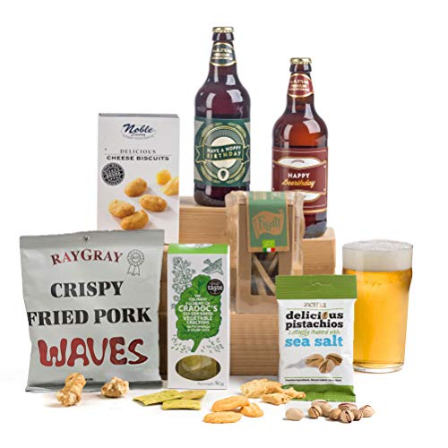 'Hoppy' 'Beer'thday - Birthday Beer & Nibbles Gift Hamper