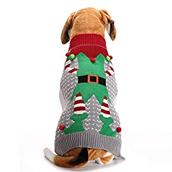 Elf Ugly Christmas Sweater for your Dog