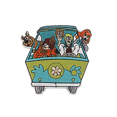 Xunmowei Cartoon Scooby-Doo bestickter Aufnäher zum Aufnähen auf Bügelpfotenabdrücke (style2)
