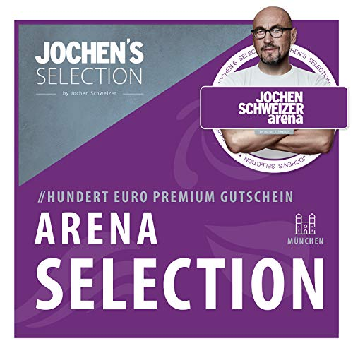 Jochen Schweizer Arena Gutschein 100€ I Erlebnis-Box Arena Selection 100€ I Wahlgutschein einsetzbar für Bodyflying, Surfen, Parcours, Flying Fox, Outdoor-Park, Jump, Restaurant etc. I Geschenk-Box