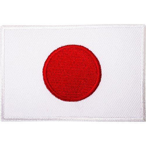 Parche bordado para planchar o coser, diseño de la bandera de Japón, para kimono de kárate o camiseta