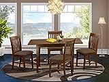 East West Furniture NOFK5-MAH-C Dining Set, 5-piece