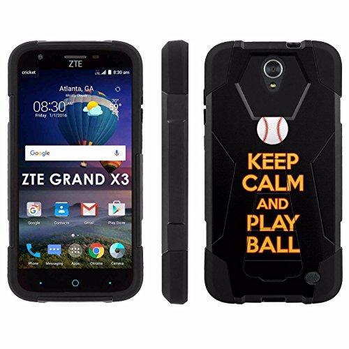 ZTE Uhura Grand X3 Z959 [Warp 7] Phone Cover, Keep Calm and Play Ball - Pittsburgh - Black Hexo Hybrid Armor Phone Case for ZTE Uhura Grand X3 Z959 [Warp 7]